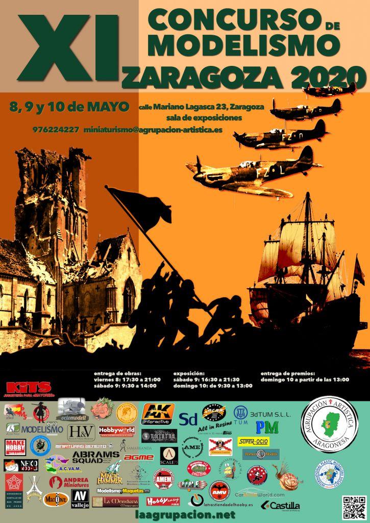 Cartel XI Concurso de Modelismo Zaragoza 2020